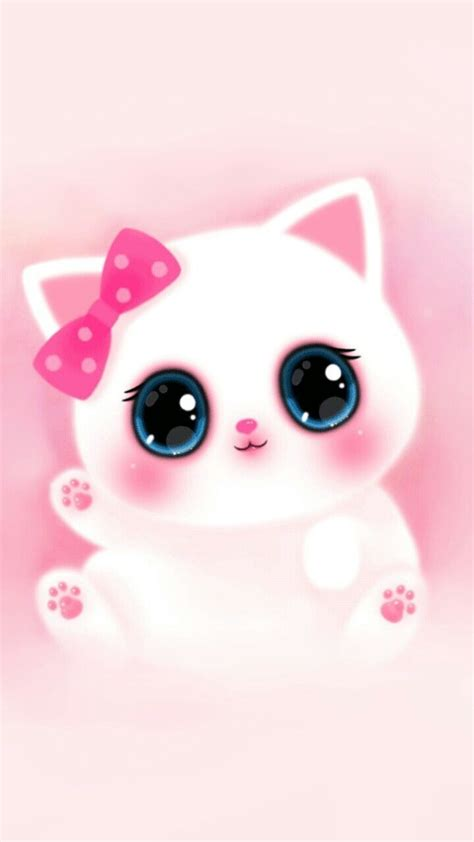 pink cute girly cat melody iphone wallpaper wallpaper