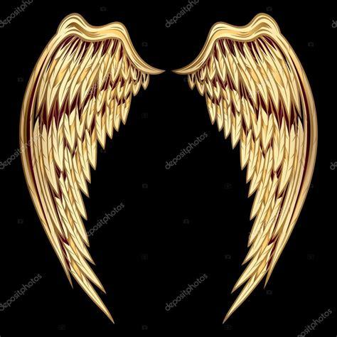 imagenes vectoriales alas alas de oro decorativas archivo im 225 genes vectoriales