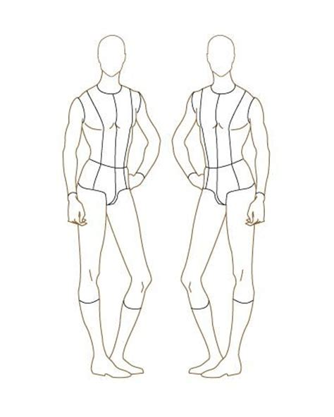 printable fashion design templates for men male fashion