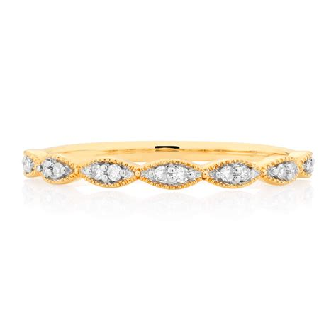 Wedding Bands Yellow Gold With Diamonds by Wedding Band With Diamonds In 10ct Yellow Gold