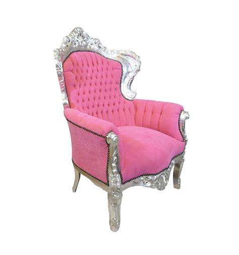 Rosa Samt Sessel