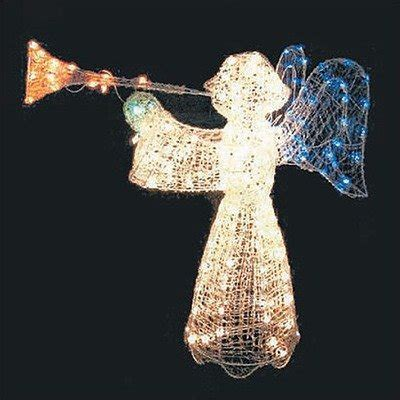 outdoor lighted angel with trumpet cheap price lighted outdoor christmas angel 200