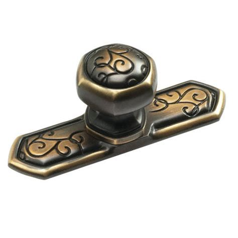 cabinet knob with backplate forma designs solid brass octagon cabinet knob with