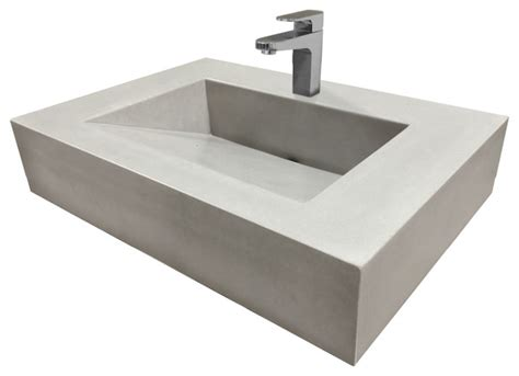 cement bathroom sinks 30 quot vallum concrete sink modern bathroom sinks by trueform concrete