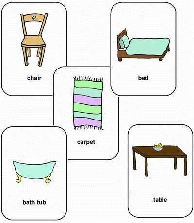 muebles en frances vocabulario de muebles en frances para ni 241 os casa dise 241 o
