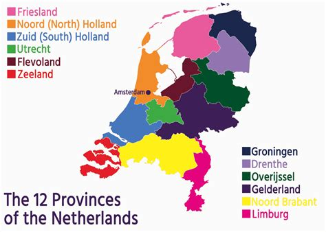 netherlands map provinces your guide to the 12 provinces of the netherlands