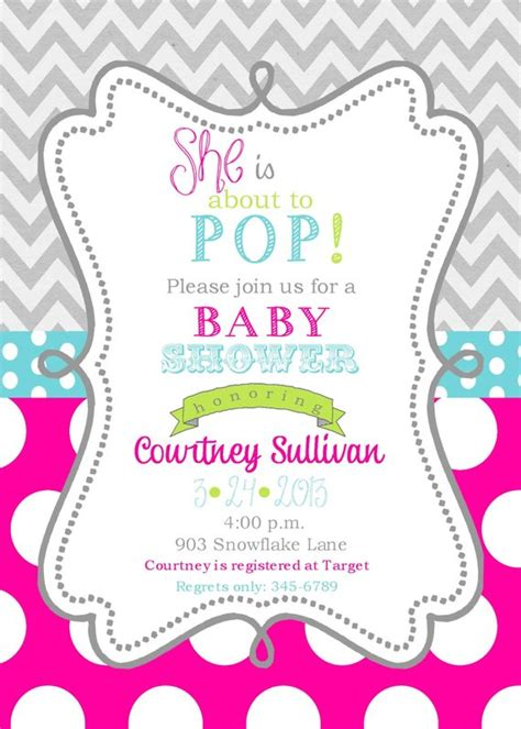 Digital Baby Shower Invitations Templates Girls Baby Shower Invitations Digital Or Printable File Ready