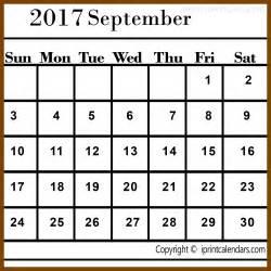 Calendar 2017 Template September Calendar Template September 2017 Templates Tools