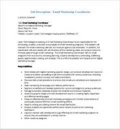 Trade Marketing Description by 13 Marketing Coordinator Description Templates Free Sle Exle Format