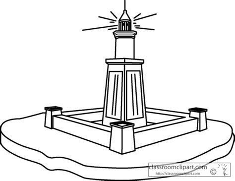 coloring pages of lighthouse of alexandria free coloring pages of lighthouse of alexandria
