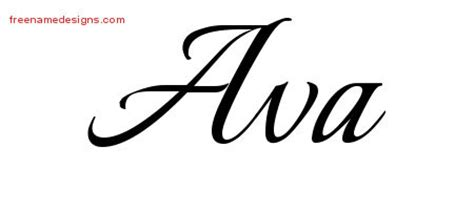 calligraphic name tattoo designs ava download free free