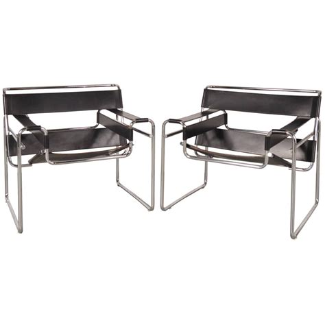wassily armchair set of two quot wassily quot chairs by marcel breuer for gavina italy circa 1960 for sale at