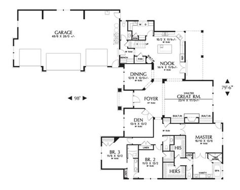 mascord floor plans mascord house plan 2377 house plans pantry and craftsman