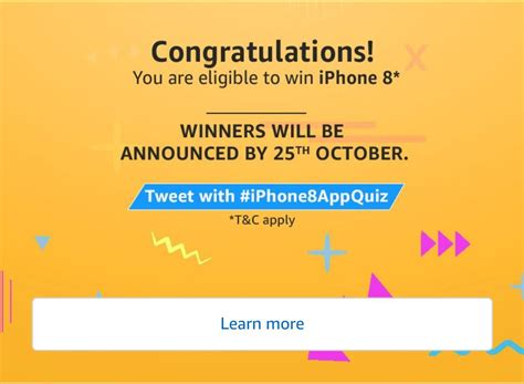 Answer Quiz And Win Money - answer added amazon quiz time answer win iphone 8 free recharge tricks