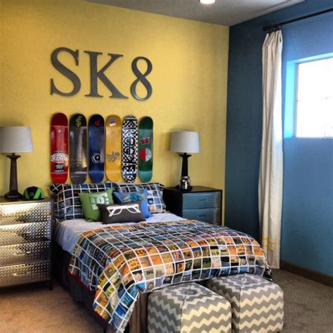 skateboard bedroom decor 16 appealing industrial kids room designs your kids will love