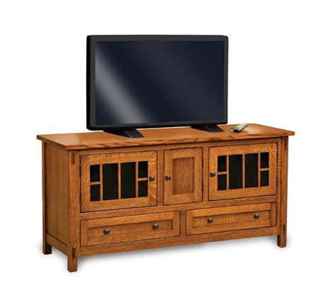 Tv Stand With Doors And Drawers by Amish Centennial Tv Stand With Four Doors And Two Drawers