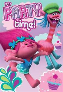 trolls it s party time birthday card budget gifts uk