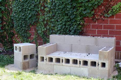 cinder block garden bench cinder block couch diy outdoor sofa that will last a