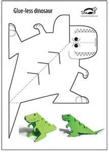 krokotak glue lee printable dinosaur