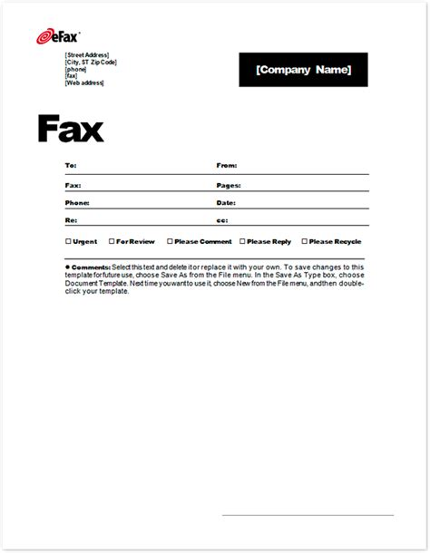 Sle Fax Cover Letter by Use A Custom Fax Cover Sheet With Faxing Efax 174