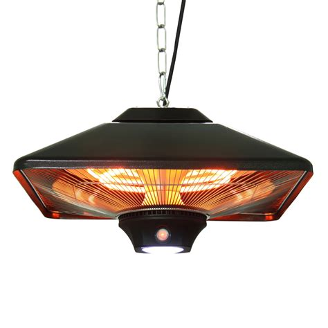 Hanging Electric Patio Heater Energ Hea 21288led Bk Hanging Infrared Heater Atg Stores