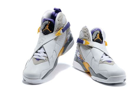 Lakers Retro White air 8 retro bryant lakers home pe for sale new jordans 2015
