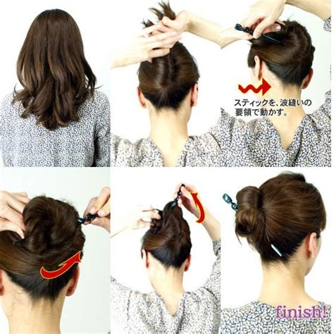 hairstyles for hair that sticks up 24 best hair stick styles images on pinterest chopstick