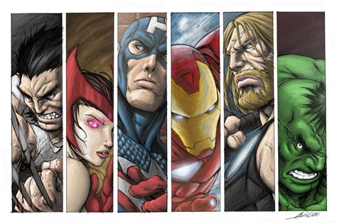 printable bookmarks marvel avengers colored by niggaz4life on deviantart