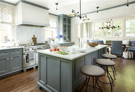 Blue Gray Cabinets Kitchen Blue Gray Cabinets Transitional Kitchen Westbrook Interiors