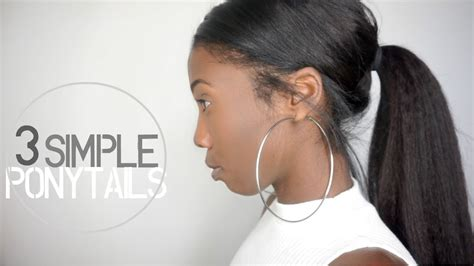 knappyhair extentsions hairstyles 3 simple easy ponytail clip in hairstyles knappy hair