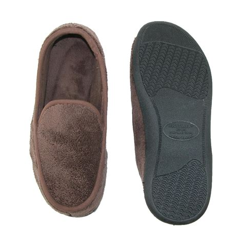 totes isotoner slippers mens microterry memory foam indoor outdoor slip on