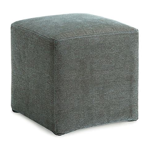 storage ottoman bed bath and beyond dwell home 16 5 inch axis cube ottoman bed bath beyond