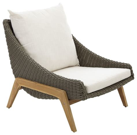 Rattan Chaise Lounge Chair Design Ideas Retro Rattan Effect Coffee Chair Contemporary Garden Lounge Chairs Other Metro By B Q