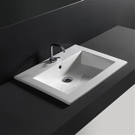 ceramic drop in bathroom sinks ws bath collections drop 71 drop in bathroom in