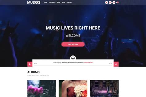 themes wordpress music band music and bands wordpress themes for summer 2017 gt3 themes