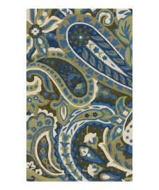 blue green paisley rug zulily