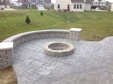 sted concrete patio with pit concrete firepit modern ep46 concrete pit file pit