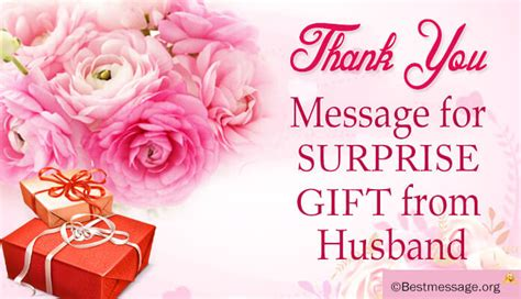 beautiful thank you message for husband for his surprise