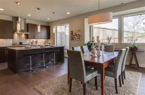 Combined Kitchen And Dining Room 7 Combination Kitchen Dining Room Plan 4a Modern Dining Room Seattle By Merit Homes