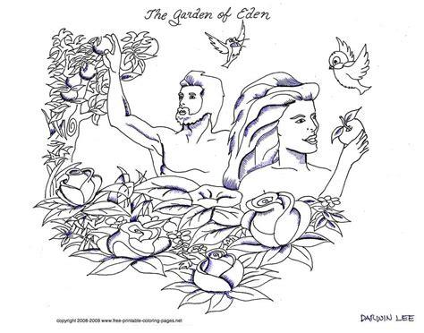 coloring page of the garden of eden garden of eden pages coloring pages