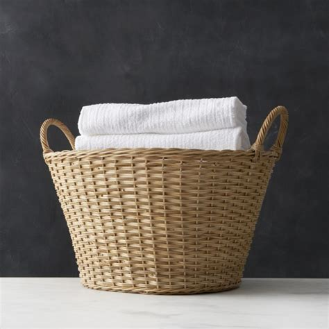 Crate Barrel Wicker Laundry Basket Laundry Crates And Rattan Laundry