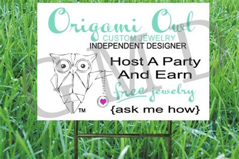 Origami Owl Signs - origami owl mini sign for craft fairs or origami