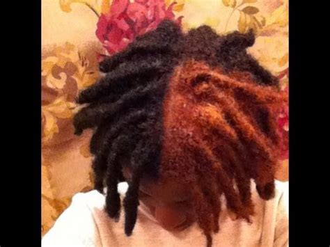 black guys dreaded dyed tips tutorial the big reveal i dyed my thick dreadlocks all by