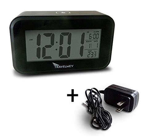 bedside l with usb charging port travelwey stylish bedside digital alarm clock visible at