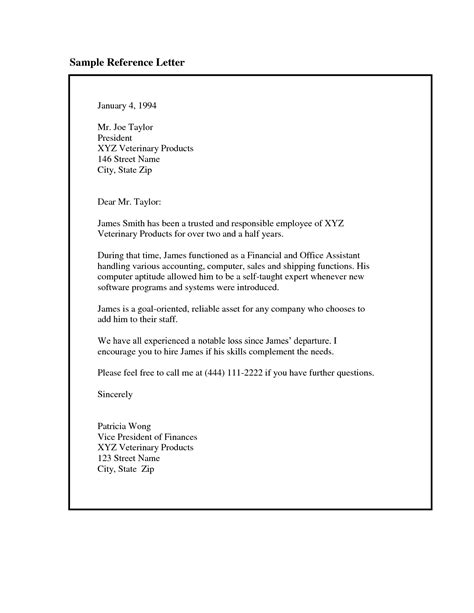 letter reference employment letters