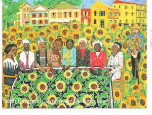 faith ringgold s the sunflowers quilting bee at arles