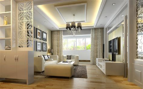3d design partition minimalist living room 3d house