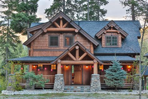 mountain lodge home plans timber frame home plans the big chief mountain lodge