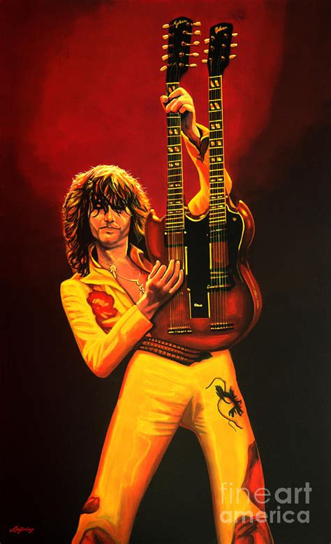 English Home Decor by Jimmy Page Painting Painting By Paul Meijering