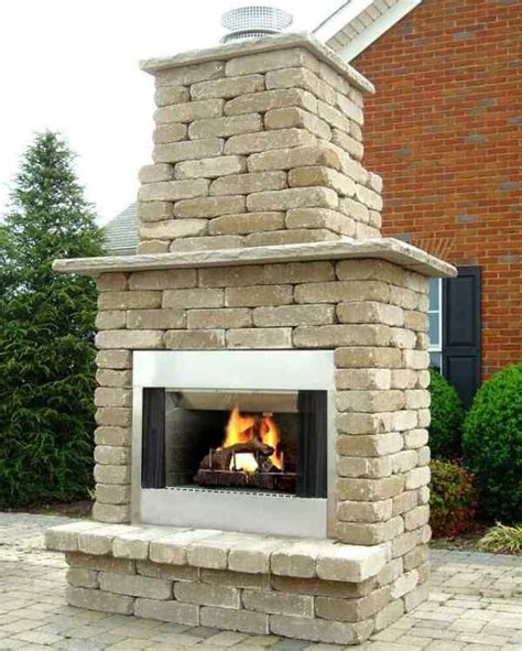 diy outdoor wood burning fireplace building outdoor